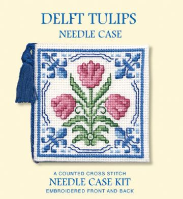 Delft Tulips  Needle Case  Cross Stitch Kit
